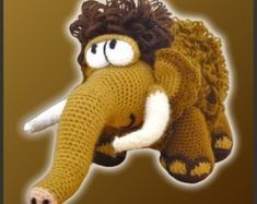 amigurumi ice age dolls | Amigurumi Crochet Pattern - Moe, Th e Mammoth ...