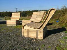 Pallet Wood Easy Lounger 3 Piece Suite | 1001 Pallets ideas ! | Scoop.it