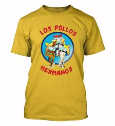Los Pollos Hermanos T-shirt Chicken Brothers Heisenberg Breaking Bad fan funny Tee Shirts S-3XL
