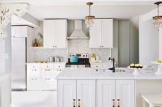 Kitchen with Brass Accents #homedecor