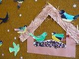 krmítko s ptáčky Feeding Birds In Winter, Autumn Crafts, Winter Fun, Bird Feeders, Art Lessons, Kids Rugs, Christmas, School, Decor