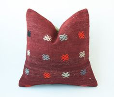Vintage Decorative Kilim Throw Pillow 16'' x by TurkishCraftsArts, $54.00