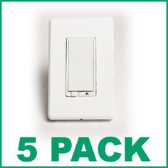 (5) EVOLVE LRM-AS Wall Mounted Z-Wave Wireless Lighting Control Dimmer Switch - 5 pack