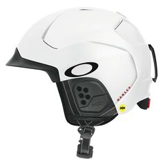 FEATURES of the Oakley MIPS HelmetModular brim system (MBS) for ideal fit with nearly any size goggleBrim ventilation for improved anti-fog goggle performanceHybrid shell constructionRemovable ear padsRemovable goggle strap retainer Ski Et Snowboard, Snowboarding Gear, Ski Helmets, Motocross Helmets, Sports Helmet, Big Mountain, Bicycle Helmet, Skiing, Atelier