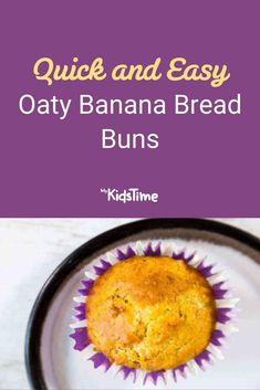 Quick and Easy Oaty Banana Bread Buns Healthy Carrot Muffins, Banana Upside Down Cake, Individual Cakes, Bun Recipe, Bread Bun, Cooking Time, Buns, Family Meals, Banana Bread