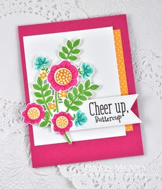 Cheer Up, Buttercup Card by Dawn McVey for Papertrey Ink (April 2015)