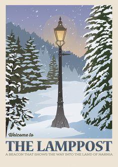 Hogwarts, Mr Tumnus, Poster Minimalista, Printing Websites, Online Printing, Plakat Design, Vintage Landscape, Cs Lewis, Chronicles Of Narnia