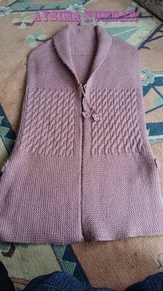 Gradient Baby Vest Making - Örgü El İşleri Knit Cardigan Pattern, Jacket Pattern, Crochet Blouse, Knit Crochet, Stylish Jackets, Knit Jacket, Lace Knitting, Knitting Designs, Pattern Sewing