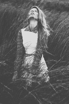 Model, wind, black and white, Marnus Meyer, field, grass, hair, photography, female model, female photography    Photography by Marnus Meyer