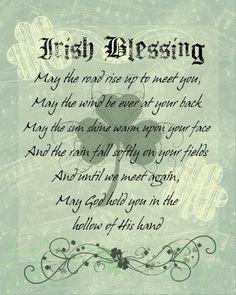 Irish Blessing Cut Poem Cut Glass Round Plaque  #8