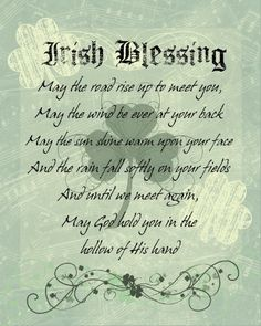 Printable Irish Blessings