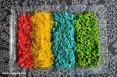 Как покрасить рис и другие крупы пищевыми красителями