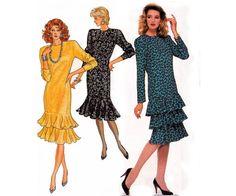 80s Drop Waist Dress Pattern Butterick by allthepreciousthings, $16.00