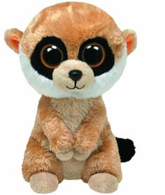 Ty Beanie Boos - Rebel the Meerkat  New - Free Shipping !!