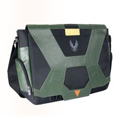 8415252272 Jinx.com - Halo Master Chief Messenger Bag- Never leave behind your laptop  and other important equipment during a Spartan attack.