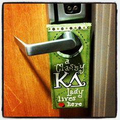 Kappa Delta door hanger