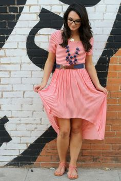 Hi-Lo Stripes Dress by Caroline Hulse | Project | Sewing / Dresses | Kollabora  #diy #kollabora #sewing #dress