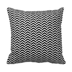 Black and White Chevron Pattern Throw Pillow Chevron Throw Pillows, Zig Zag Pattern, Black And White, Color, Inspiration, Black Pattern, Neck Pillow, Biblical Inspiration, Black N White