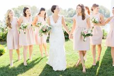 Wedding gown, bridal gown, real wedding, real bride, ivory, bridesmaids, V-neck wedding gown, summer wedding, lace