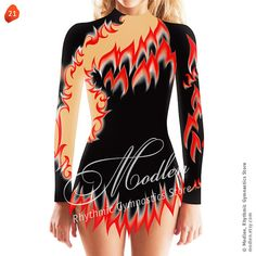 Rhythmic Gymnastics Leotard Ice Figure Skating Dress  21 by Modlen, $209.99