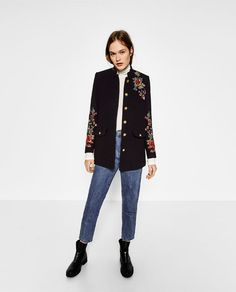 ZARA - WOMAN - FLORAL MILITARY-STYLE COAT