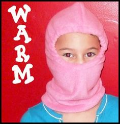 Download Fleece Snow and Ski Mask - Sizes 3-Adult Sewing Pattern | Apple Tree Boutique | YouCanMakeThis.com