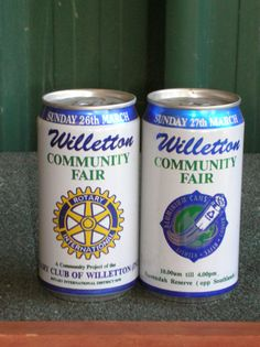 WILLETTON COMMUNITY FAIR CANS (2) SUPPORTED BY COCA COLA