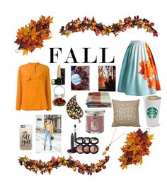 """""""Fall"""" by crazy-vintage ❤ liked on Polyvore featuring Chicwish, STELLA McCARTNEY, Casetify, WALL, Improvements, Laura Geller, Yankee Candle, Toast and Guerlain"""