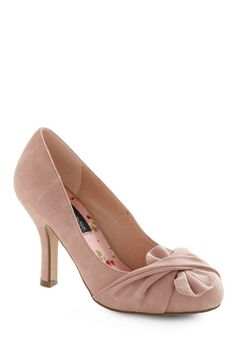 $29.99 Like It or Knot Heel in Rose, currently sold out but will be restocked at some point on ModCloth.com