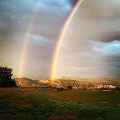 Arcoiris sobre Estella. Maravillas que nos regala la naturaleza #Navarra (Foto @nrqmrgldy - #Instagram)