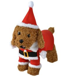 PetBoBo Pet Dog Cat Christmas Costumes Coat Santa Claus Suit for Small Medium Large Dogs Cat Christmas Boy Girl Clothes ** New and awesome cat product awaits you, Read it now  : Christmas Presents for Cats