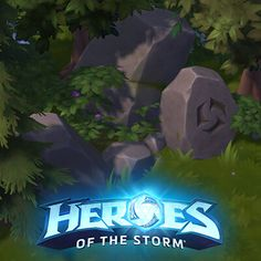 Rune rocks that glow when the player get close to it Heroes Of The Storm, 3d Background, Game Assets, Runes, Dragon, Neon Signs, Rock, Artwork, Plants