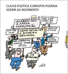 Políticos aderindo aos protestos...