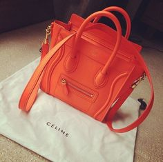 Orange Celine bag
