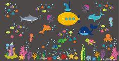 Sea Ocean Wall Decals Nursery Wall Decals by NurseryDecals4You.  https://www.etsy.com/listing/266167672/sea-ocean-wall-decals-nursery-wall?ref=shop_home_active_14