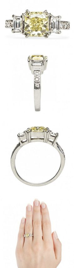 Sunny Springs yellow vintage engagement ring by Trumpet & Horn http://trumpetandhorn.com/sunny-springs.html
