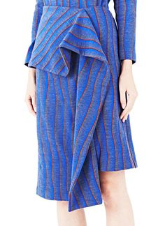 J.W. Anderson Striped Wave Draped Skirt | LN-CC