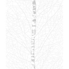 Koivikko-tapetti  (valkoinen) tuo tilaan metsän rauhoittavaa tunnelmaa. Riina Kuikan suunnittelemaa