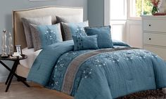 Groupon - Chambray Embroidered Comforter Set (7-Piece). Groupon deal price: $59.99
