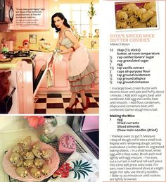 Dita Von Teese Spiced Mice Butter Cookies...