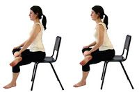 seated-piriformis-stretch and other different stretches for lower back pain. The great part is you can do these at home or at work! Sciatica Pain, Sciatic Nerve, Nerve Pain, Sciatica Stretches, Stretching Exercises, Fitness Exercises, Workouts, Hip Pain, Low Back Pain