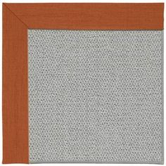 Capel Inspirit Silver Machine Tufted Persimmon/Gray Area Rug Rug Size: 9' x 12'