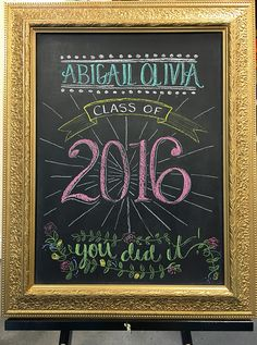 Less-Than-Perfect Life of Bliss: Abby's Graduation Party chalkboard