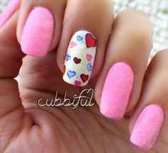 cubbiful: Valentine #nail #nails #nailart