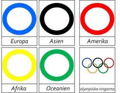 Underlag med de olympiska ringarna -beställning
