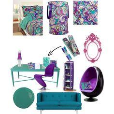 Vera Bradley Heather inspired bedroom, so cute! #MySuiteSetupSweepstakes