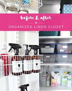 IHeart Organizing: Organized Linen Closet