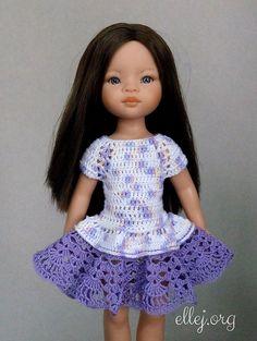 Платье реглан для куклы - https://ellej.org/superklesh/