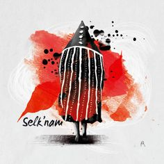 Selk'nam. Encargo Editorial | Domestika Art School, Patagonia, Chile, Contemporary, Abstract, Halloween, Drawings, Artwork, Stickers