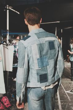 Patchwork denim at Topman SS15 London Collections: Men. More images here: http://www.dazeddigital.com/fashion/article/20297/1/topman-design-ss15